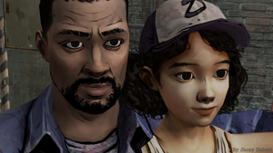 Lee and Clementine - The Walking Dead by JhonyHebert
