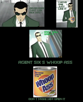 Agent Six's Whoop-Ass by DRAGONLOVER101040