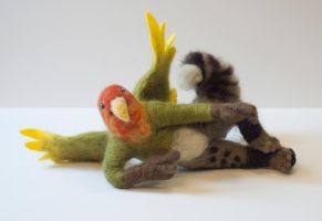 Poseable Felt Anthro Gryphon by Maresy
