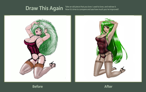 Manga Girl Before and After by dcolb121