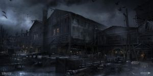 Thief - Dock Warehouse by MatLatArt
