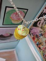 Lemon Cupcake Charm by LittleSweetDreams
