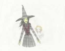Wicked: Elphaba and Glinda by MolecularClouds