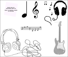 Music Image Brush Pack by secretheart-designs
