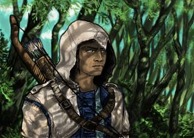 Grumpy Connor in the woods by grievous15