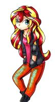 Sunset Shimmer Casual by gummigator