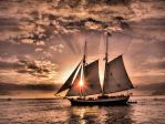 Sunset Ship by OneClownShoe