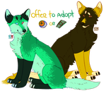 Offer to Adopt Highlighter Dogs 1/2 OPEN by Resdayn