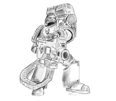 SpaceMarine with Heavy bolter. by InsectSpray