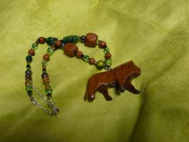 Wooden Lion Necklace by Eliea
