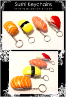 Sushi Keychains by whitefrosty