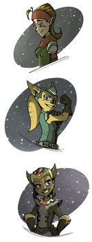 The Ladies of Ratchet and Clank by CPTBee
