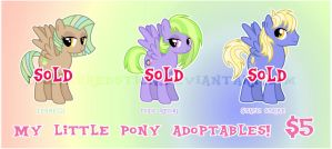 MLP ADOPTABLES PEGASI ::SOLD OUT:: by DisfiguredStick