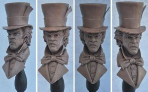 Mad Hatter Bust Monster Clay by AntWatkins