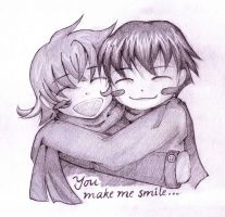 You make me smile... by Sacred-feminine