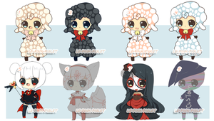 LOWER PRICE:Set Price: Costume Halloween Adopts by le-pink-piglet
