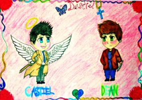 Castiel and Dean by Chaos-Angel142