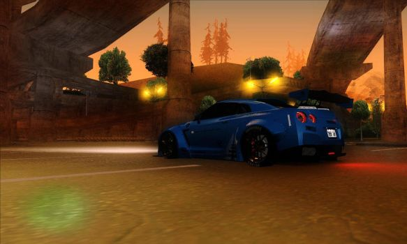 Liberty Walk Performance GT-R in GTA:SA by BLACKR0CKSHUTA