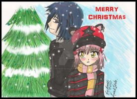 Amu X Ikuto Christmas 2010 by Dark-Angel15-2010