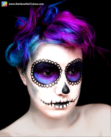 Sugar Skull Hair and Makeup by littlehippy