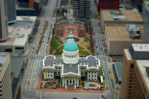 St. Louis Old Courthouse Tilt-shift by MelCaleb