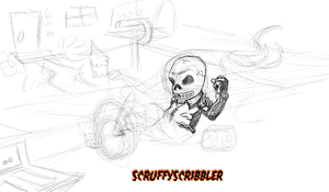 WIP - Ghost Big Wheel Rider pt1 by ScruffyScribbler