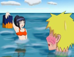 Naruhina: Beach Date by queenjazz225