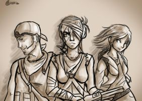 Fallout New Vegas - Eliza, Niner, and Willow! by BenPlus