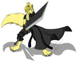 Cloud Strife AC Wolf 2 Color by GunZcon