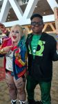 Green Lantern and Harley Quinn swap items by Leck-Zilla