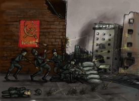 Wehrmacht in action - coloured sketch by grievous15