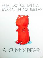 What do you call a bear with no teeth? by arseniic