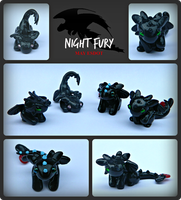 Herpy Night Fury: HTTYD Toothless Dragon Sculpture by MayEsdot