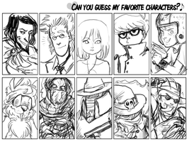 favourite characters by Spoonfayse