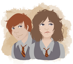Ron and Hermy by Avender