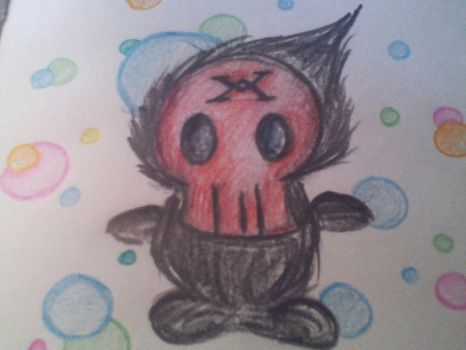 Cute skull thing doodle by Creator-2