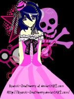 Rukia wore a pink dress by byaruki-deathberry