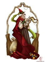 The Befana and baby Krampus by V4m2c4
