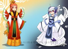 Gijinka: yin and yang by klinanime