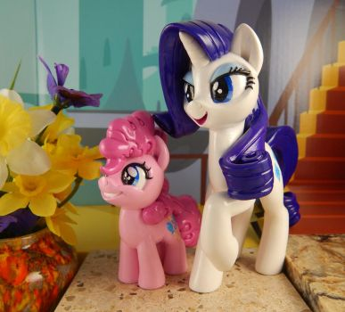 Rarity and Filly Pinkie Pie set by DeadHeartMare