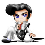 Elvis Presley Chibi by ExoroDesigns