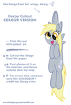 Derpy Hooves Cutout (COLOUR VERSION) by RedApropos