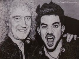 Brian May and Adam Lambert by Meggie8