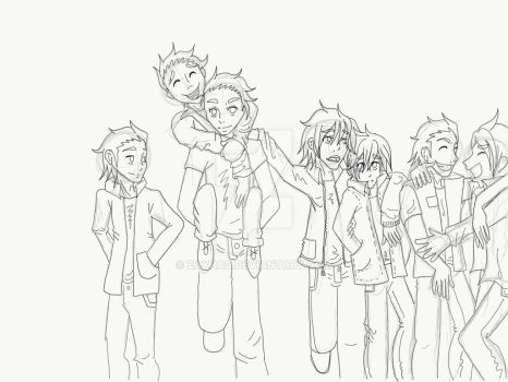 The gang - The Outsiders by Zayhad