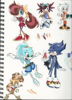 So Many Sanic Characters... by Jen-the-Cat-desu