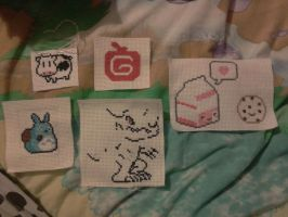 Some of my Cross Stitch Creations by Tasha-Chan2011