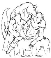 Werewolves - sketch - by RenaissanceLady-K