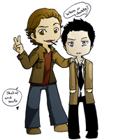 Castiel and Gabriel by Ayaluna