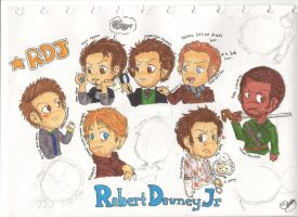 Robert Downey Jr Chibi WIP by PATotkaca