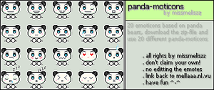 Panda-moticons by MissMeliszz